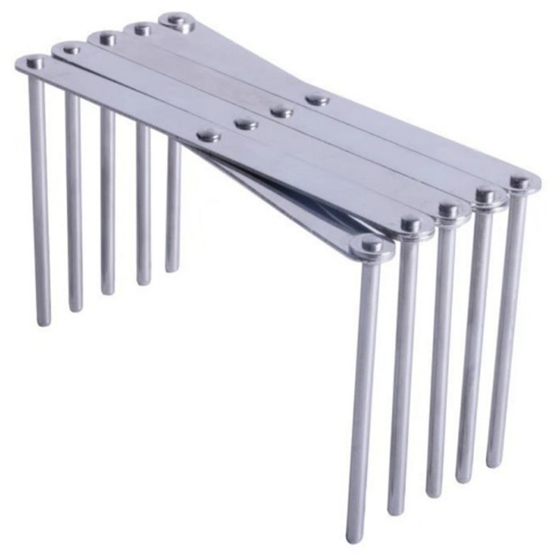 Kitchen Organizer Stainless Steel Pot Lid Dish Holder Rack Steamer Shelf Tray Cookware Adjustable Length Kitchen Storage