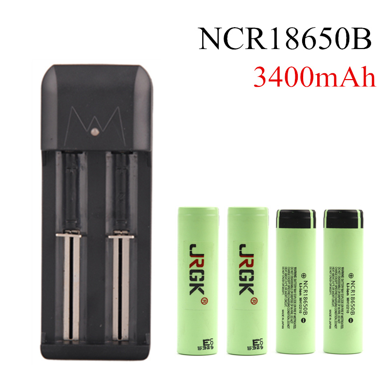 Vape Battery 3.7V NCR18650B 18650 Battery 3400mah Rechargeable Mod Lithium Battery For Electronic Cigarette Mod With Charger