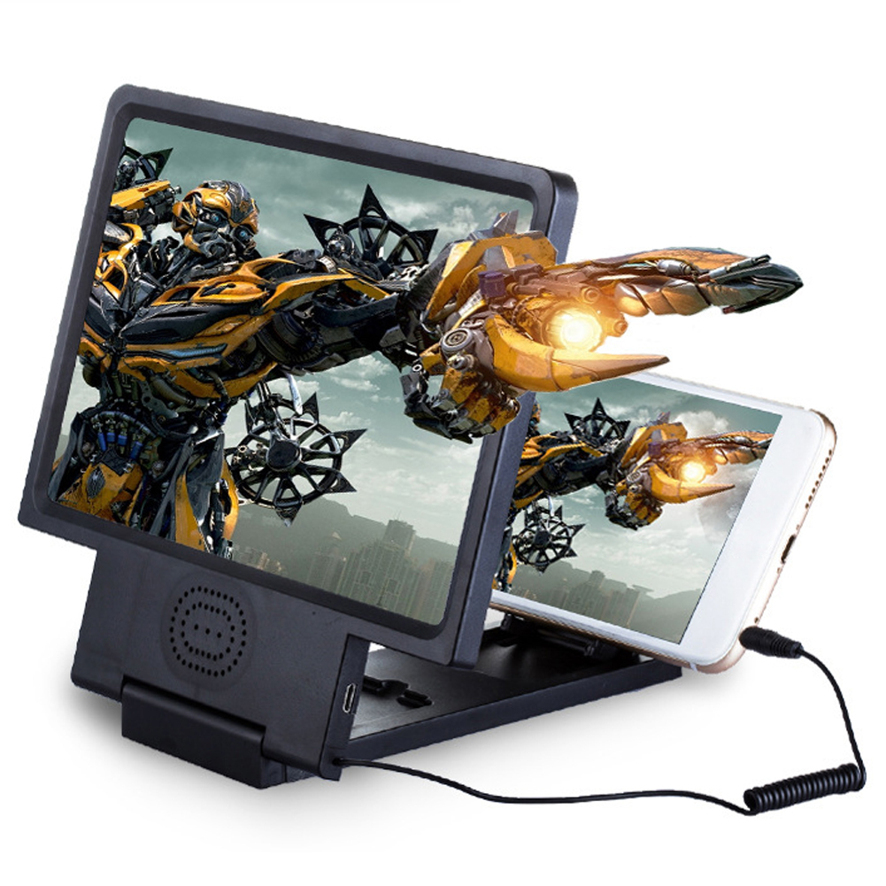 3D Mobile Phone Screen Magnifier For All Smart Phone Eye Protection Display Video Screen Amplifier Stand Folding Desktop Bracket