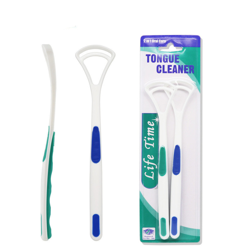 2 pièces langue nettoyant mauvaise haleine nouveau Hot Away main grattoir brosse silice poignée hygiène buccale soins dentaires nettoyage