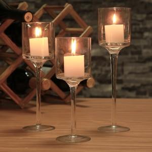 Image 1 - 3 szt. Zestaw świeczniki dekoracje ślubne producent świecznik świecznik na herbatę światło strona główna Bar strona dekoracji