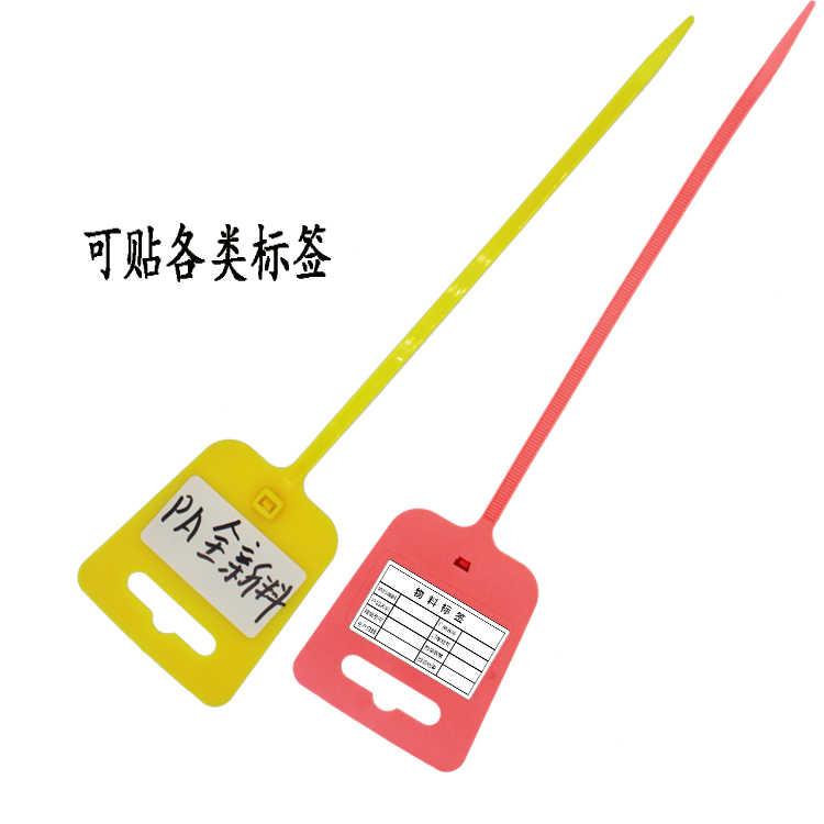 50 adet Zip bağları renkli yazma tel kablo etiket işareti etiketi naylon kendinden kilitleme kablo bağı ağ kablosu tel kayışı işaretleyici kablo bağı s