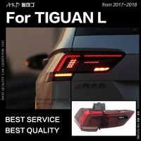 AKD Auto Styling für Tiguan Rückleuchten 2017-2018 Tiguan L LED Schwanz Lampe LED DRL Dynamische Signal Bremse reverse auto Zubehör