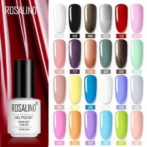 Полупостоянный Гибридный Гель-лак для ногтей ROSALIND, Цветной Гель-лак для УФ-лампы, праймер для маникюра, верхнее покрытие, Блестящий лак для д...