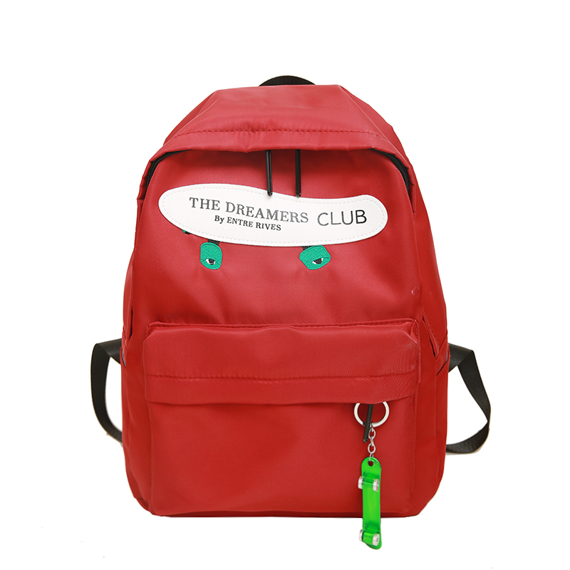 Waterproof nylon women backpack large capacity travel backpack female student bag girl school bags candy color Christmas gift
