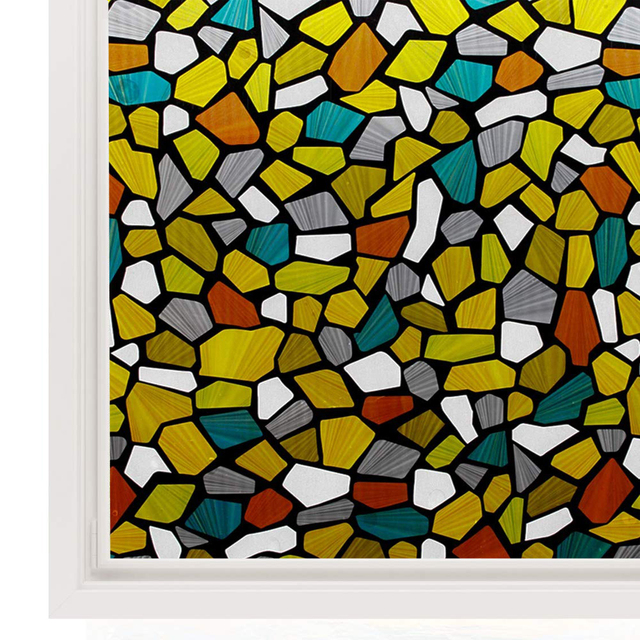 Window Self-adhesive Film Stained Glass Decoration Art Window Privacy Film Static Cling Removable Vinyl Window Sticker 1