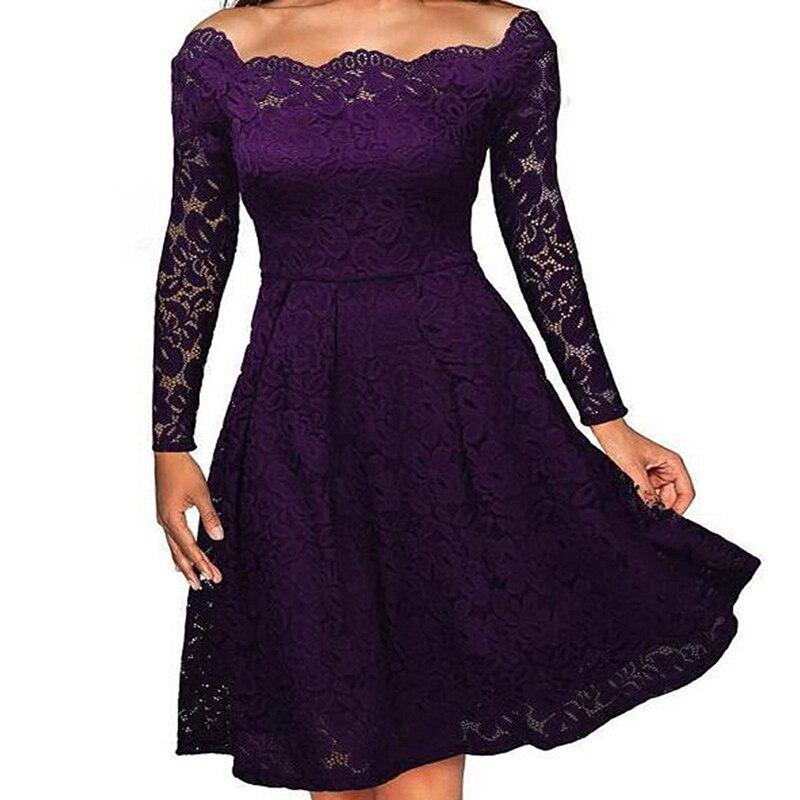 Вечерние женские кружевные платья с цветочным принтом, Осеннее обтягивающее платье с длинным рукавом, сексуальное черное кружевное