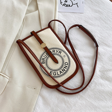 Women Minimalist Canvas Cell Phone Case Shoulder Bag Girls Small Casual Crossbody Purse Designer Card Holder Wallet