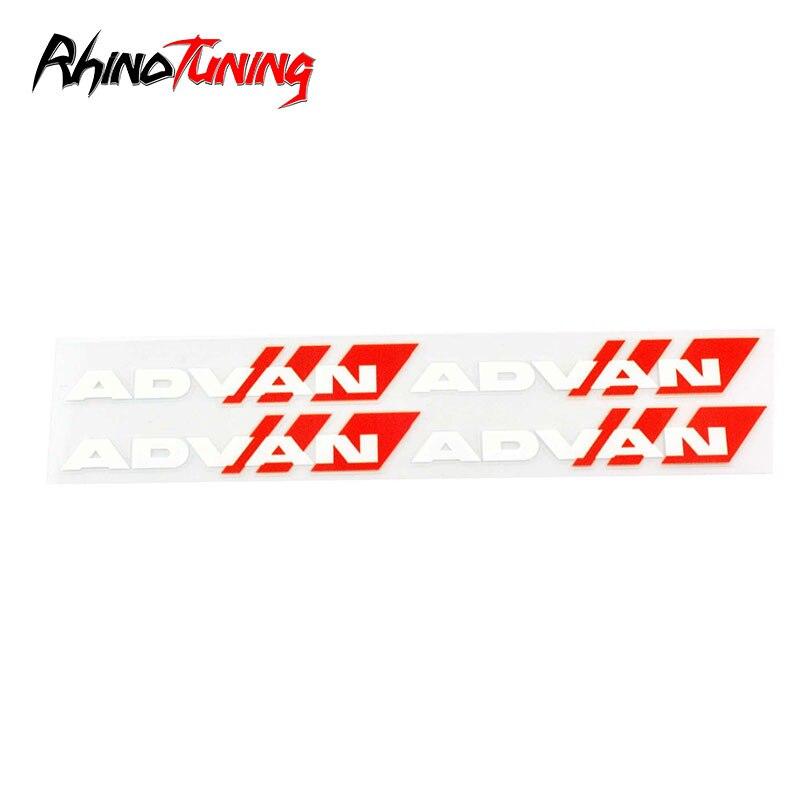 White RGII Demupai Car Wheels Sticker Decal for Advan RG2