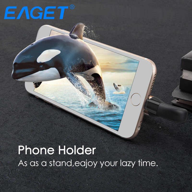 EAGET I90 2 で 1 OTG USB フラッシュドライブ 64 ギガバイト雷 USB 3.0 スティック MFI 認定ペンドライブ 128 ギガバイトのフラッシュメモリスティック iphone