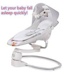 В наличии! Детское кресло-качалка, От 0 до 3 лет, электрическая колыбель, кресло-качалка, чтобы успокоить ребенка артефактом, чтобы быстро спа...