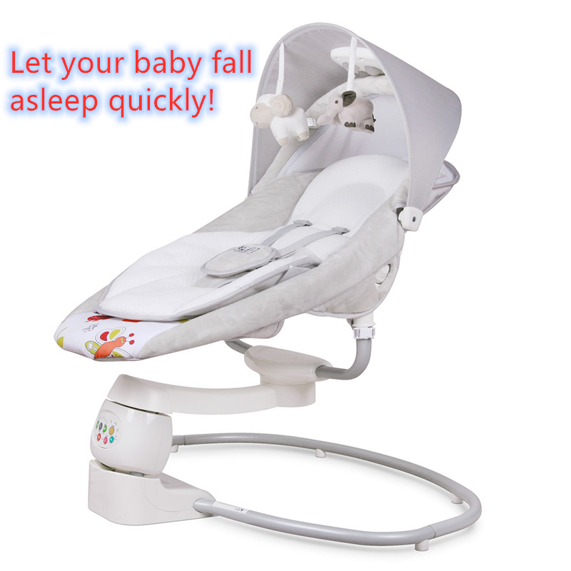 In Stock! Baby Rocking Chair 0-3 Years Old Baby Electric Cradle Rocking Chair To Soothe Baby Artifact To Sleep Newborns Quickly