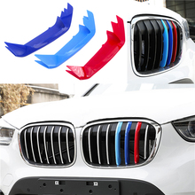 For BMW 3 Series Front Grille Trim Sport Strips Cover Power Performance Stickers E46 E90 F30 F34 E92 E93 Hot Sell 1 Set