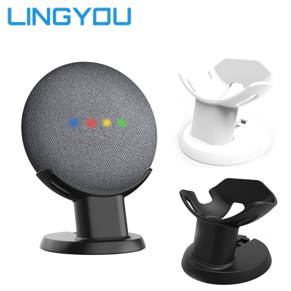 100% Original Google Home Mini Mount Stand Voice Assistants Compact Holder Kitchen Bedroom Study Audio Holder Acesorios