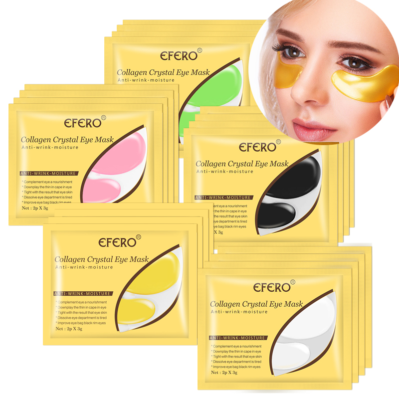 24K Gold Crystal Collagen Eye Mask Eye Patches For Eye Care Dark Circles Remove Anti-Aging Wrinkle Eye Pads Sheet Mask Face Mask
