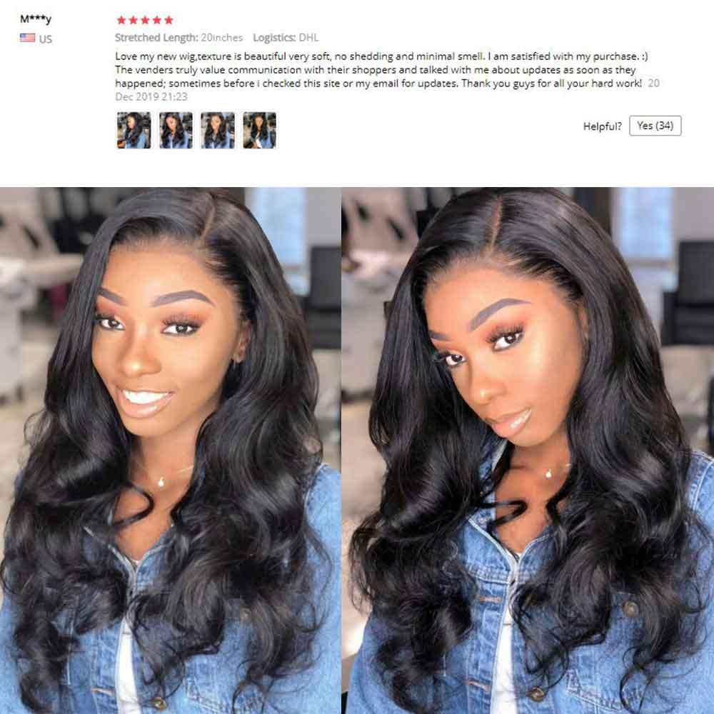 Beaudiva Hair 4x4 Closure Wig  Body Wave Wig 150 Density PrePlucked Body Wave Lace Closure  Wigs Lace Wig 5