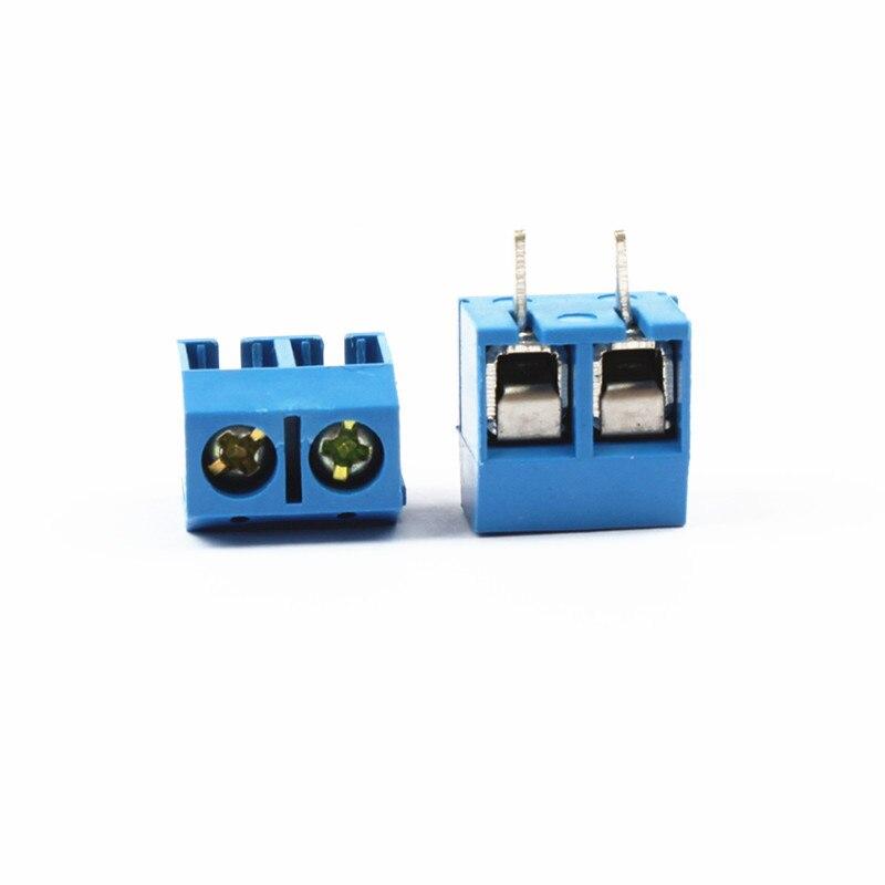 10pcs/lot Blue 5.08-301-2P 301-2P Blue Terminal 5mm Spacing Terminal