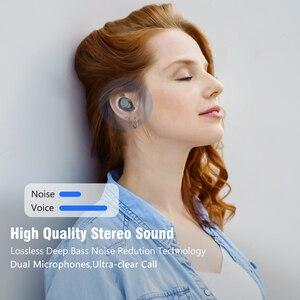 Image 5 - TWS Bluetooth V5.0 이어폰 무선 헤드폰 소음 차단 IPX6 방수 6D 스테레오 스포츠 헤드셋 이어 버드 4000mAh 전원