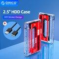 ORICO прозрачный корпус для жесткого диска внешний корпус для жесткого диска 2,5 ''SATA до USB3.0 Тип A 5 Гбит/с HDD чехол для 2,5'' 7 мм-9,5 мм SSD