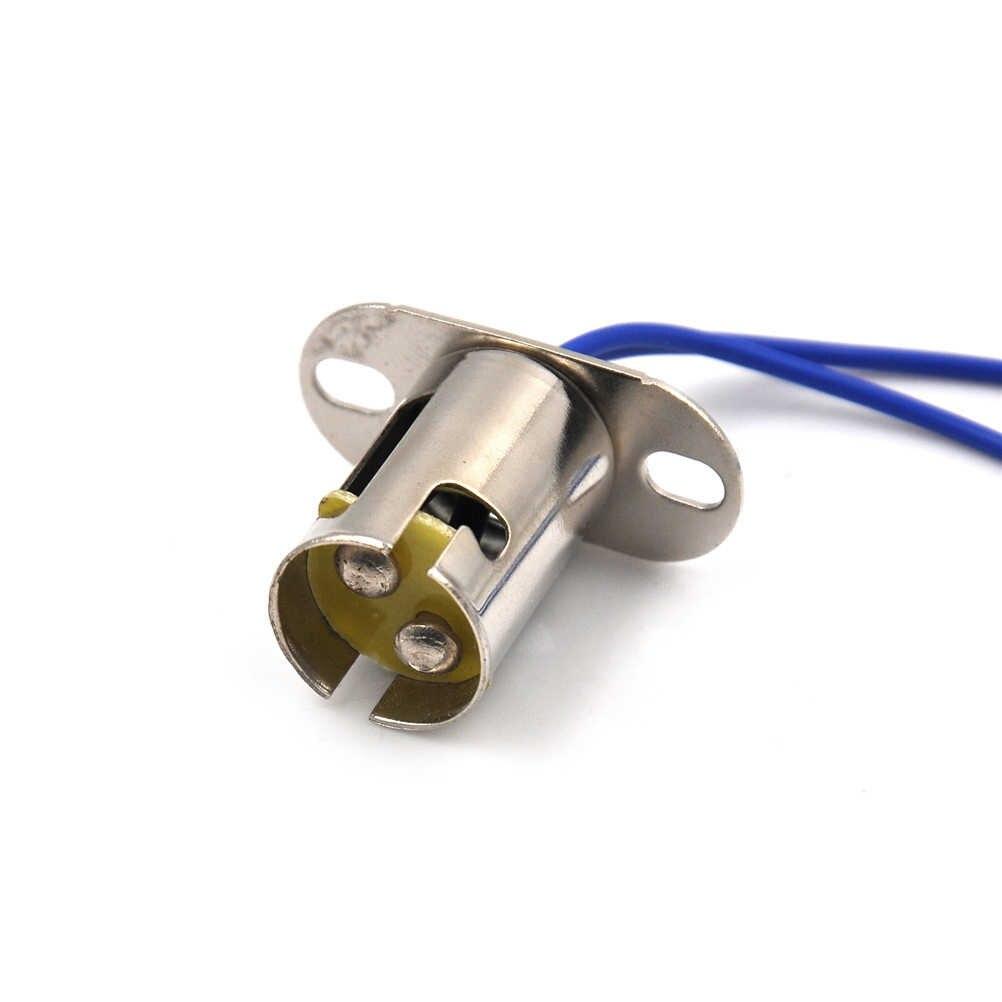 Патрон B15D гнездо плоская ножка держатель лампы база Ba15d гнездо 1 шт. высокое качество металла B15