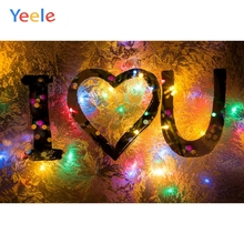 Yeele Wedding Party Photocall Decor Lights Lovers Photography Backdrops Personalized Photographic Backgrounds For Photo Studio