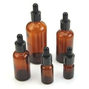 Image 2 - 5 100ML reaktif göz damlalık damla damla Amber cam aromaterapi sıvı pipet şişe doldurulabilir şişeler 35