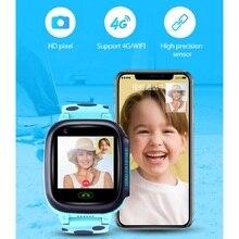 2020 4G شبكة واي فاي لتحديد المواقع SOS Y95 الاطفال ساعة ذكية مقاوم للماء مكافحة خسر دعم سيم مكالمة هاتف الموقع جهاز تعقب الطفل Smartwatch