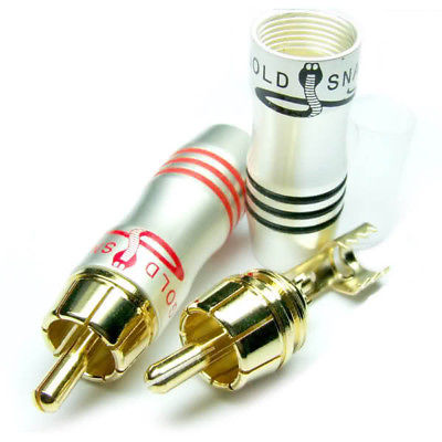 DHL/EMS  100PCS Gold Plated RCA Male Plug For TV CCTV Audio Video Speaker Cable Welding -A8