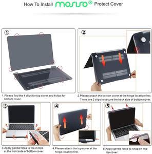 Image 4 - Mosiso coque de protection mate pour Macbook Air Pro 13, 15 Retina, pour ordinateur portable Macbook A1502 A1425 A1398, 2020, 2016, 2017 et 2018