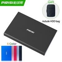 Slim HDD Disco duro externo portátil Disco duro externo USB3.0 Disque dur externa para PC Mac Tablet TV incluyen HDD bolsa de regalo