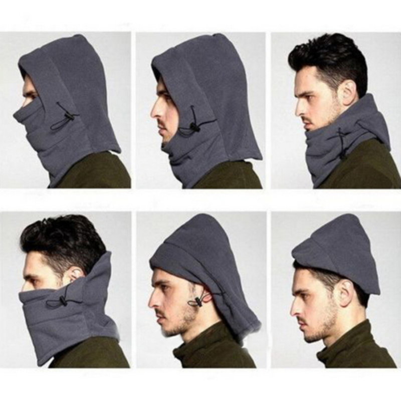Winter Warm Fleece Beanies Hats For Men Skull Bandana Neck Warmer Balaclava Face Mask Special Forces Unisex 2020