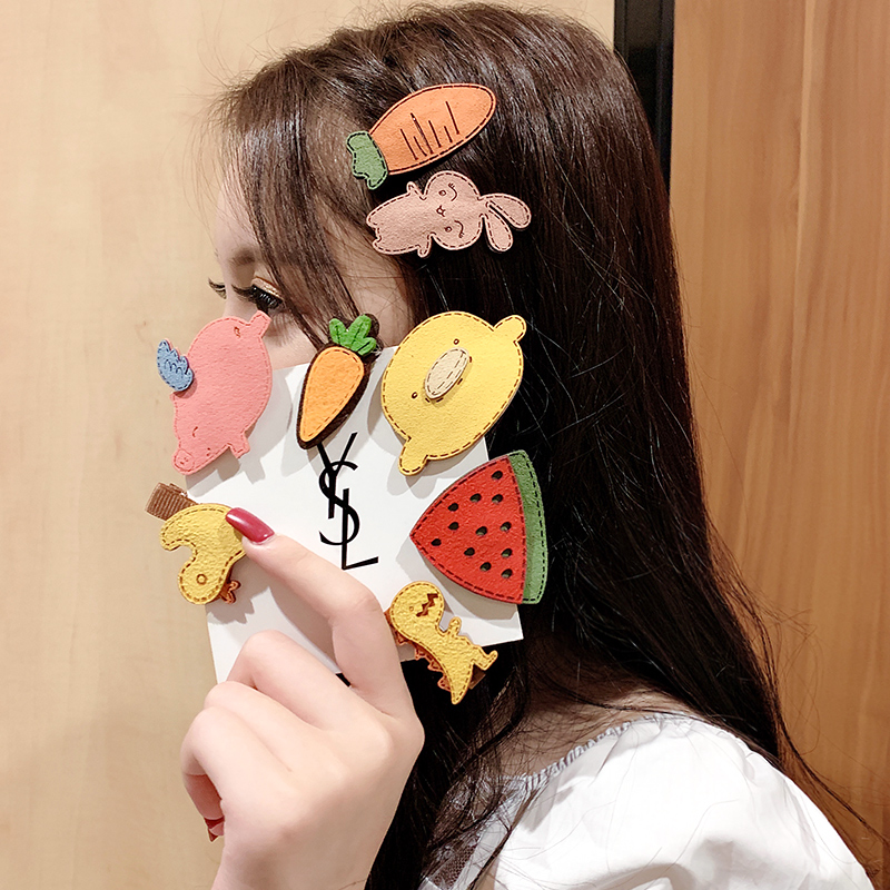 New Cute Fannel Cartoon Animals Plants Hairpins For Girls Headband Children Hair Clips Barrettes Kids Fashion Hair Accessories