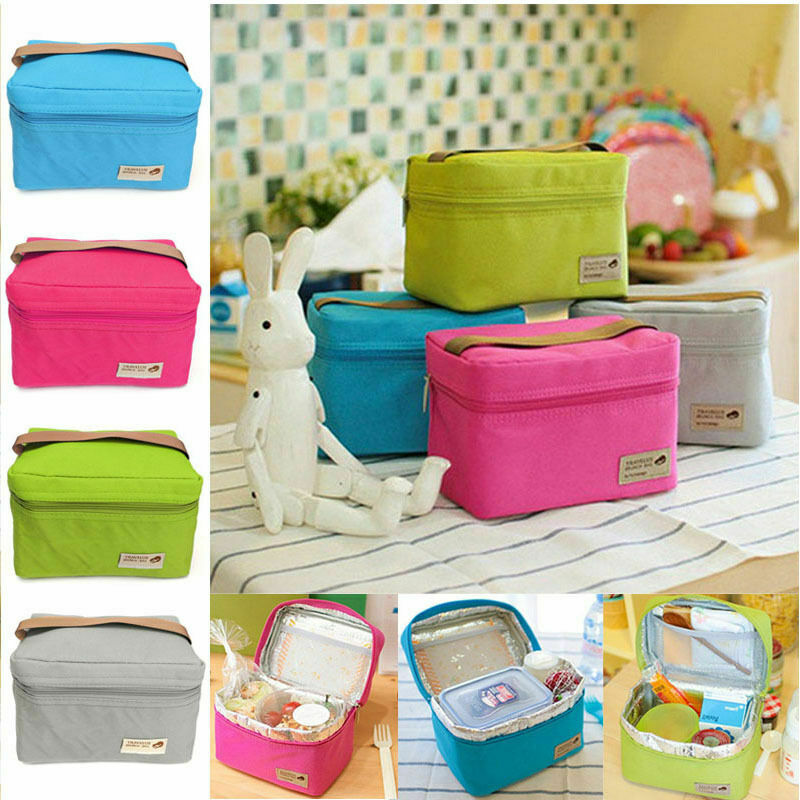 Portable Insulated Thermal Cooler Bento Lunch Box Waterproof Tote Picnic Storage Bag Pouch School Lunchbags