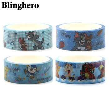 CA744 Cat and Mouse Cute Washi Tape Adhesive Decoration Sticker Scrapbooking Diary Masking Stationery 1pcs
