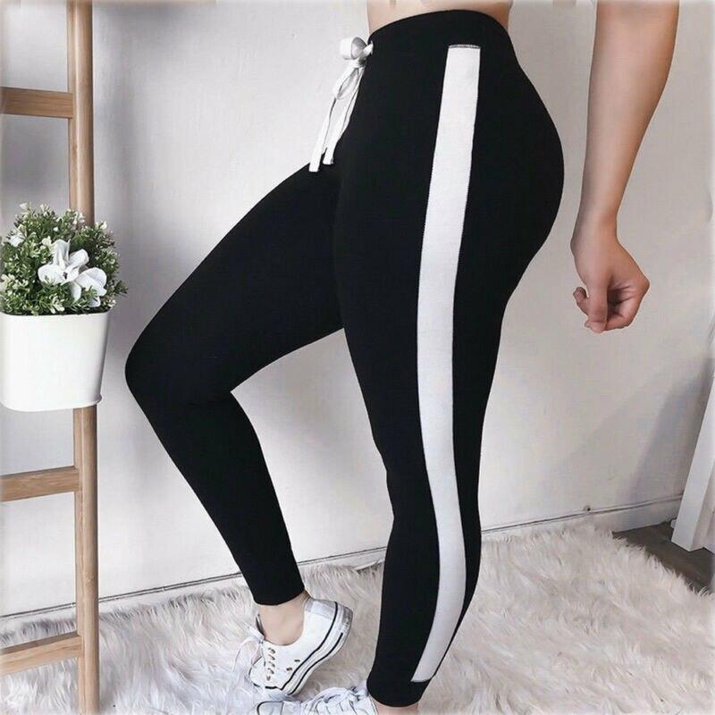 Women Sport Pants High Waist Fitness Leggings Running Gym Scrunch Trousers Skinny Fitness Elastic Waist Leggings Clothes