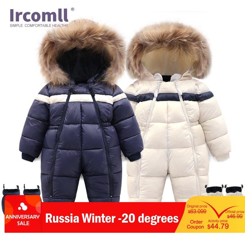 New Russia Winter Infant Baby Boy Girl Romper Thicken Baby Snowsuit Windproof Warm Jumpsuit For Children