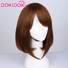DokiDoki Anime Cosplay Wig My Hero Academia OCHACO URARAKA Hair Women Heat Resistant Boku No