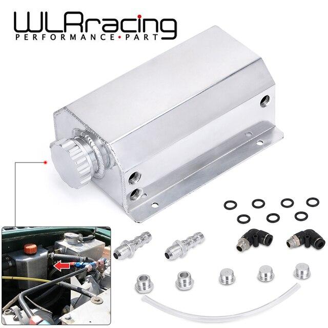 Universal 2 Litre Aluminum Oil Catch Can Reservoir Tank With Drain Plug Breather Oil Tank Fuel Tank 2000ml
