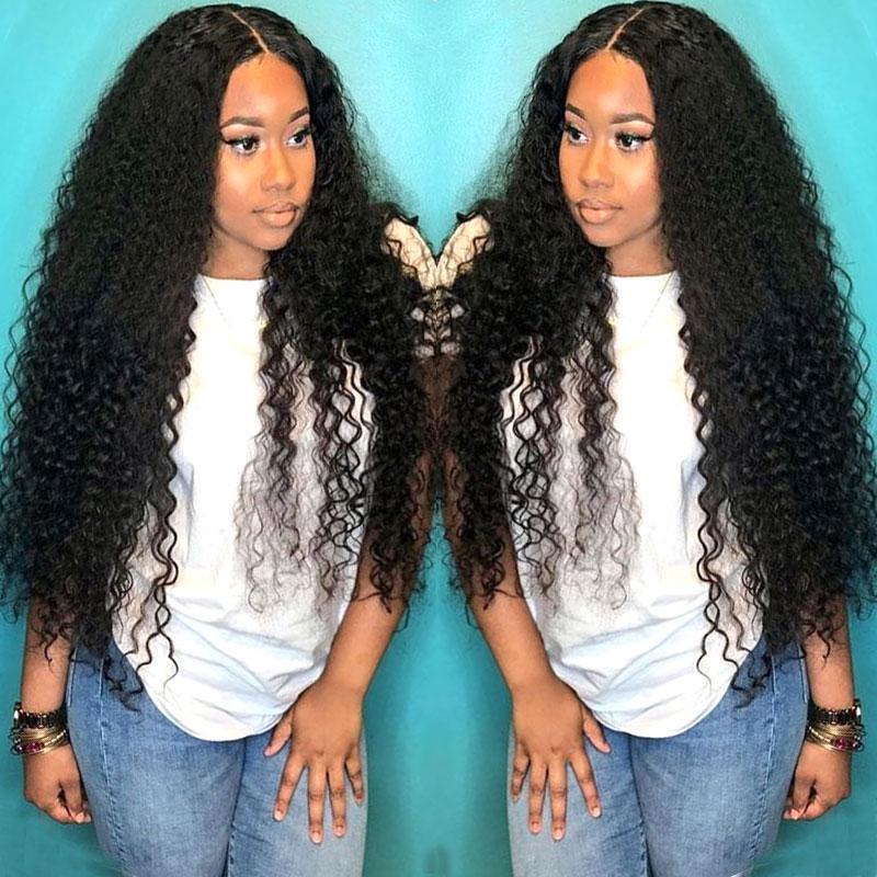 Парик с глубокой волной, прозрачные парики на сетке, парик из человеческих волос на сетке, парик длиной 28 дюймов, Бразильские влажные и волни...