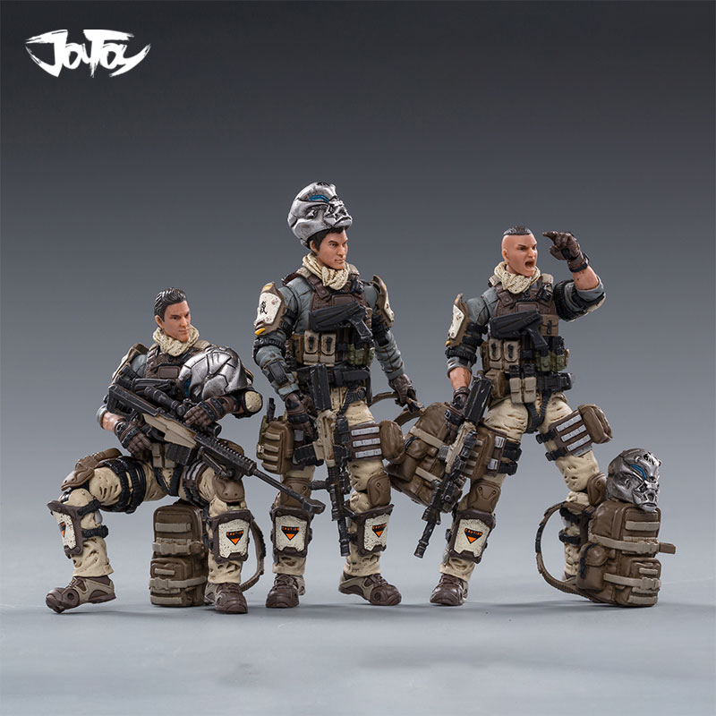 1/18 JOYTOY Action Figures HELL SKULL PARATROOPER SQUAD Military Soldier Figure Model Toys Collection Toy
