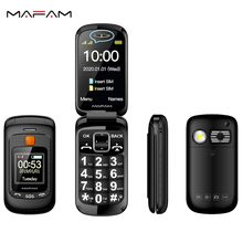 Flip Double Dual Display Senior Mobile Phone SOS Fast Call Touch Screen Handwriting Big Russian Key loud Sound FM For Old People