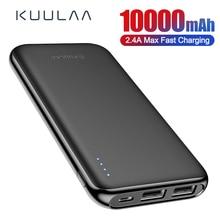 KUULAA power Bank 10000 mAh Портативная зарядка power bank 10000 mAh повербанк внешнее зарядное usb-устройство для аккумулятора для Xiaomi Mi 9 8 iPhone
