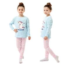 Boys Pajamas Loungewear-Set Homewear-Lounge-Wear Unicorn-Series Girls Cotton Cartoon