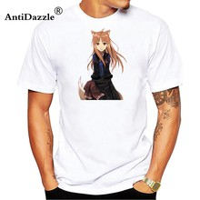 Spice and Wolf Holo Renewal T-Shirt Japan Anime Cute T Shirt Novel 3D Printed Fashion Short Sleeve Tee Shirts New Design Clot(China)