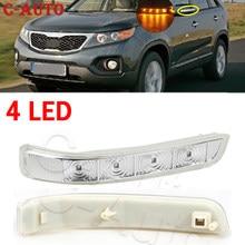 4 luz LED de intermitente retrovisor espejo lateral lámpara para Kia Sorento 2009, 2010, 2011, 2012, 2013, 2014 87613-2P000-FC / 87623-2P000-FC