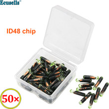 50 pçs/lote novo transponder de vidro em branco virgem chip t6 id48 cópia 48 chip para volkswagen/audi/skoda/seat para volvo