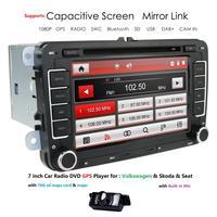 Car dvd player 7 inch WIN CE radio stereo GPS navigation for VW Passat CC Golf 5 6 Cabriolet Tiguan Jetta Polo Sedan Bora Sharan