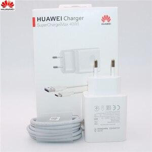 Image 1 - Huawei 40W Ladegerät Original 10V4A Kompressor EU Ladung adapter 5A USB typ c kabel für nova 5 5t 5 pro mate 30 pro p20 p30 pro