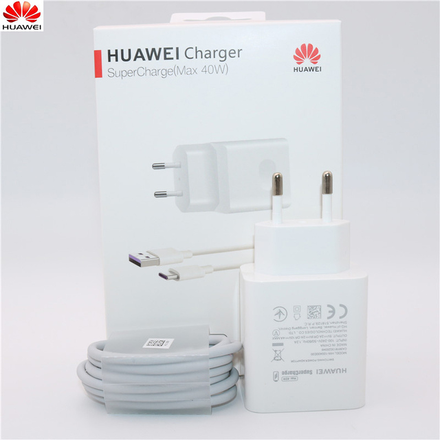 Huawei 40W Ladegerät Original 10V4A Kompressor EU Ladung adapter 5A USB typ c kabel für nova 5 5t 5 pro mate 30 pro p20 p30 pro