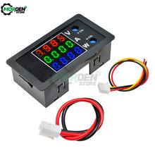 Detector Digital de voltaje, medidor de vatios, CC 100V 10A, 4 dígitos, alto voltímetro de precisión, amperímetro para coche, multímetro de voltios multifunción